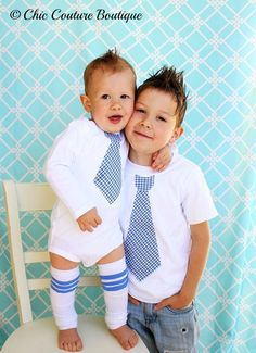 Set of 3. 2 Tie Shirts & 1 Pair of Leg Warmers. Big Brother Little Brother Tie Shirts. Easter Sunday Dress Picture Matching Football Stripe. $44.45, via Etsy.
