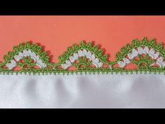 Kolay iki Renkli Köprülü Tığ Oyası Yapımı - YouTube
