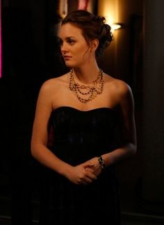 Blair Waldorf. I love her hair and the statement necklace paired with a little black dress.