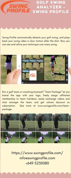 Swing Profile is hands free automatic Golf Swing Analyzer Software which robotically identifies your golf swing, and then plays back your golf swing video in slow motion after the shot to assist you analyze the shot. The Artificial Intelligence Analysis Software of Swing Profile is exclusive in the market. Golf Swing Analyzer, Golf Training, Artificial Intelligence, Plays, Coaching, Software, Profile, Hands, Marketing