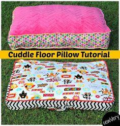 Tutorial: Cuddle Floor Pillows