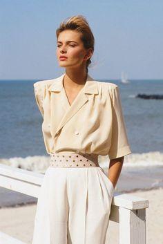 look Paulina Porizkova Perry Ellis Tolle Auswa - Vintage Fashion 90s, 1980s Fashion Trends, 70s Fashion, Fashion History, Look Fashion, Fashion News, Vintage Outfits, Fashion Outfits, Womens Fashion