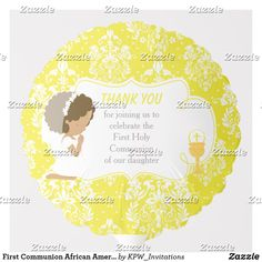 Shop First Communion African American Gold Damask Balloon created by KPW_Invitations. Helium Gas, Photo Balloons, First Communion Invitations, Balloon Shapes, African American Girl, Custom Balloons, First Holy Communion, Invitation Design, Damask