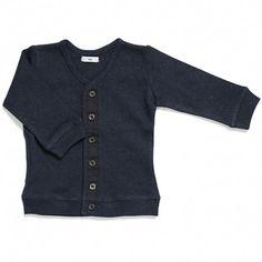 baby cardigan (navy melange)