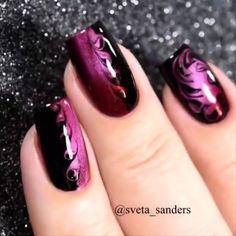 Halloween nails cat nail art cat eyes on my long natural stiletto nails Fancy Nails, Pink Nails, Cute Nails, Pretty Nails, My Nails, Beautiful Nail Art, Gorgeous Nails, Acrylic Nail Designs, Nail Art Designs