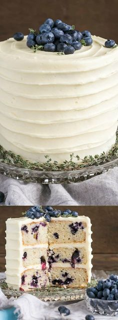 This Blueberry Banana Cake with Cream Cheese Frosting from Liv for Cake is a delicious cake! Blueberries and bananas get paired with a tangy cream cheese frosting!