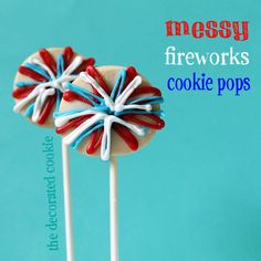 Fireworks cookie pops for the 4th of July