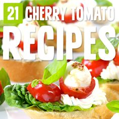 Cherry tomatoes are bursting with goodness, and this list of recipes gave me lots of ways to prepare them and feature them in my Paleo cooking. Healthy Vegetarian Lasagna, Family Vegetarian Meals, Vegetarian Recipes Easy, Paleo Recipes, Paleo Meals, Healthy Meals, Delicious Recipes, Easy Recipes, Cherry Tomato Recipes