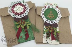 Stampin' Up! Embossed Gift Bags Elaine's Creations