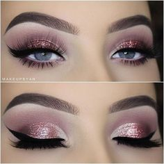 Why an eyeliner? Well, Did you know that you can make your eyes look bigger and even change the shape with an eyeliner? Almost every woman knows what en eyeliner is today… Eye Makeup Glitter, Pink Eye Makeup, Eye Makeup Tips, Makeup Goals, Makeup Inspo, Makeup Hacks, Makeup Tutorials, Hair Hacks, Makeup Style