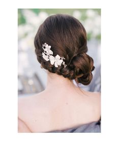 Bridesmaid with a side braid updo