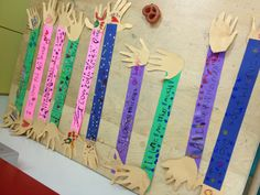 """""""I love you this much!"""" Mother's Day craft for Kindergarten."""