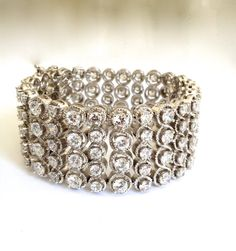 Vintage Diamond Eternity Estate Jewelry Bracelet by WOWTHATSBEAUTIFUL