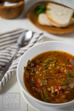 Lentil Soup with Swiss Chard. I use stock in place of the water and its yummy!