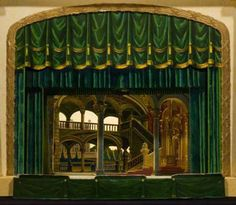 Paper Theater Publisher: Oemigke & Reimschneider Proscenium, sheet number 779http://www.victoriana.com/ Scenery for Salon and figures for Hamlet Germany, ca. 1840...