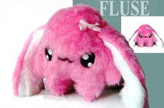 Fluse Kawaii  Plush Bunny Pink von Fluse123 auf Etsy, €24.00