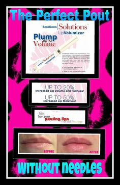 NO more Botox or fillers needed...TRY this ALL Natural Lip Volumizer!!   $50  Http://www.senegence.com/BesosByVero