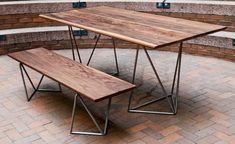 I want this table and bench.