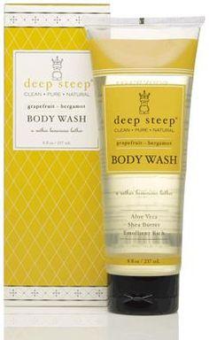 Deep Steep, Body Wash, Grapefruit - Bergamot, 8 fl oz (237 ml)