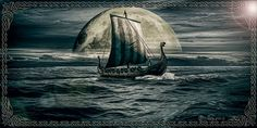 Fan of epic fantasy art! Viking Life, Viking Art, Viking Warrior, Norse Vikings, Viking Tattoo Design, Viking Tattoos, Viking Ship Tattoo, Viking Longboat, Tatoo