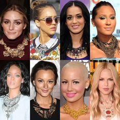Olivia Palermo, Jessica Alba, Katy Perry, Adrienne Bailon, Rihanna, Leighton Meester, Amber Rose, & Rachel Zoe.