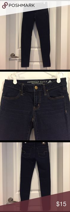 American Eagle Super Stretch Jegging - Size 2 Stretchy dark denim from American Eagle. Size 2, regular length. American Eagle Outfitters Jeans Skinny