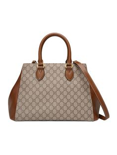 GUCCI Gg Supreme Top Handle Bag. #gucci #bags #shoulder bags #hand bags #canvas #suede #lining #
