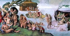 The Deluge by Michelangelo Most Famous Paintings, Famous Artists, Great Artists, Stretched Canvas Prints, Canvas Art Prints, Canvas Wall Art, Wall Art For Sale, Art Prints For Sale, Michelangelo Paintings
