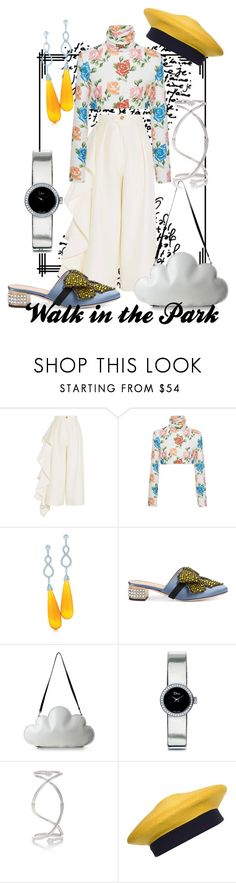 """""""Head in the Clouds"""" by raecycle ❤ liked on Polyvore featuring Solace, Emilia Wickstead, Tiffany & Co., Gucci, Christian Dior, Delfina Delettrez, Donna Karan, floral, Random and rando"""