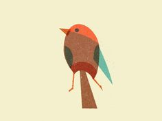 Bird element for a xmas card