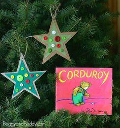 Corduroys Thrifty Star Ornament Craft