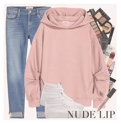 """nude lip"" by marilia-magniti ❤ liked on Polyvore featuring beauty, Frame, Maybelline, Yves Saint Laurent, MAC Cosmetics, NYX, Vans, Burberry and NARS Cosmetics"