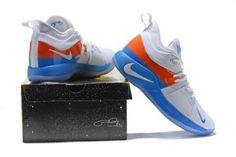 46fffa65ca4 Nike PG 2 EP White Orange Blue Men s Basketball Shoes Nike Paul George