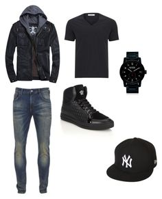 """Casual outfits"" by daisytroyer on Polyvore featuring Versace, Scotch & Soda, Nixon, New Era, men's fashion and menswear"
