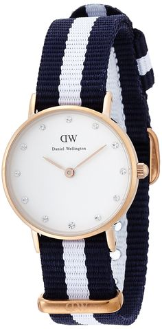 Daniel Wellington 0908DW Classy Glasglow Uhr Damenuhr Stoffband Edelstahl 30m Analog blau: Amazon.de: Uhren