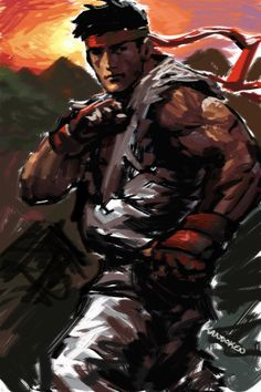 Street fighter 2 -Ryu paint-