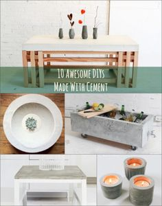10 Awesome DIYs Using Cement