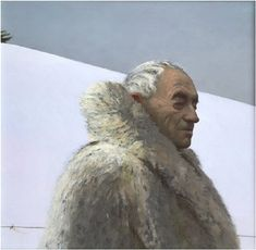 Available for sale from Somerville Manning Gallery, Bo Bartlett, Andrew Wyeth on Snow Hill Oil on panel, 20 × 20 in American Realism, American Artists, Grant Wood, Bo Bartlett, Andrew Wyeth, Edward Hopper, Portraits, New Art, Original Artwork