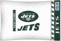 New York Jets NFL Standard Pillow Case/Cover available for $17.97 only..