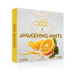 Dixie Awakening Mints Dixie's Orange Zest Awakening Mints deliver 5mg of CO2 extracted THC that will brighten your day in the most delightful way. Each mint contains ingredients such as orange oil, Siberian ginseng, ginkgo and green tea that support an uplifting and awakening effect.