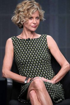 All cosmetic enhancement, aside, Meg Ryan is a beautiful woman. I want to get her hair out of her eyes for good, let those curls fly, put some apricot blush on her and warm up her locks to golden auburn. She has such style potential! Go less understated and be the bohemian minimalist (is that possible?) you are!
