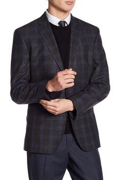 Jarrett Gray Glenplaid Two Button Notch Lapel Wool Trim Fit Sport Coat by Ted Baker London on @nordstrom_rack