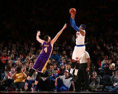 Carmelo Anthony decide, e NY Knicks bate Lakers em busca da reabilitação  #Lakers #Nkicks #NBA #Basquete #Carmelo #Anthony
