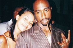 and Kidada Jones Tupac Shakur, 2pac, Tupac Videos, 24 Years, New Theme, Floral Illustrations, Cute Fashion, Old School, Couple Photos