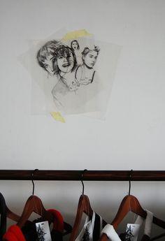 Drawings on the Wall / Vanja Seferovic / Solo exhibition / Concept store Prostor / SHONSKI art and design studio