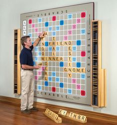 Wall Scrabble Game - someday I will make this!