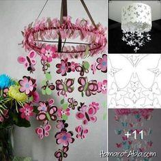 Evinizi kağıttan kendi yaptığınız birbirinden dekoratif ve şık kelebek ve çiçek şeklinde süslerle dekore etmek ister misiniz? Bu rengarenk kelebekler evinize çok yakışacak!