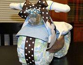 Motorrad Diaper Cake - Baby-Dusche-Geschenk