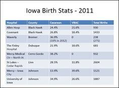 Northeast Iowa birth stats 2011