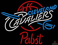 Pabst Blue Ribbon Cleveland Cavalier Neon Sign NBA Teams Neon Light